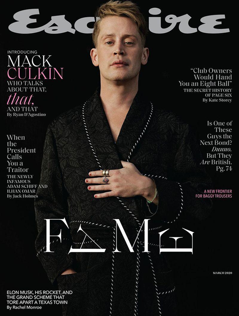 Esquire US Marzo 2020 Cover w / Macaulay Culkin