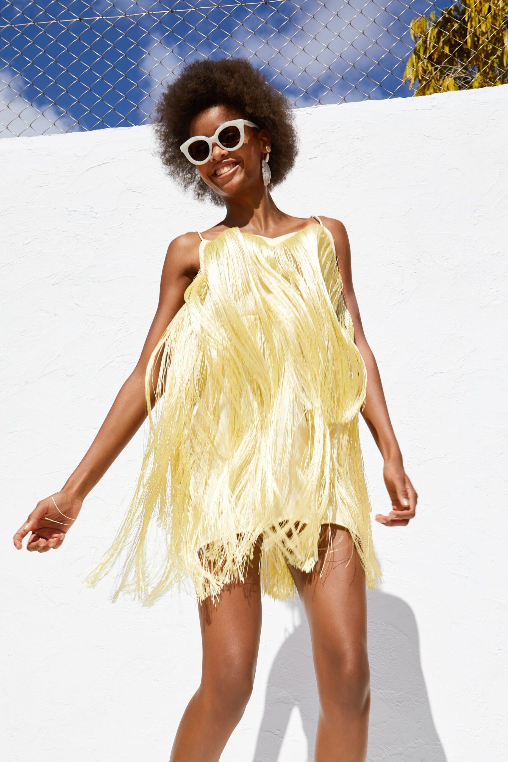 Vestido Amarillo Diseñador