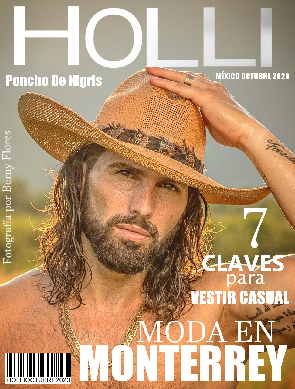Revista Holli Octubre 2020 en Portada Poncho De Nigris