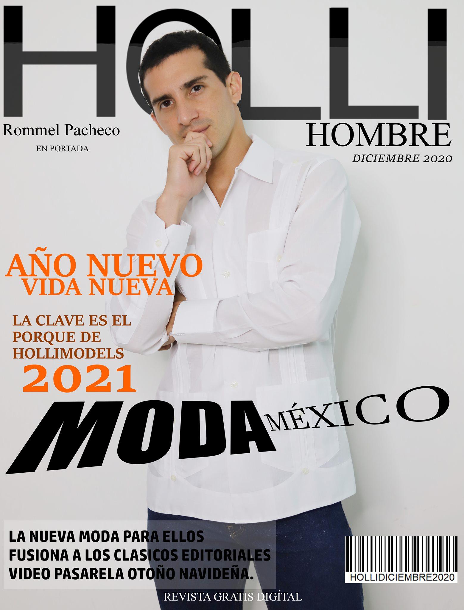 Revista Hollimodels Diciembre 2020 en Portada Rommel Pacheco