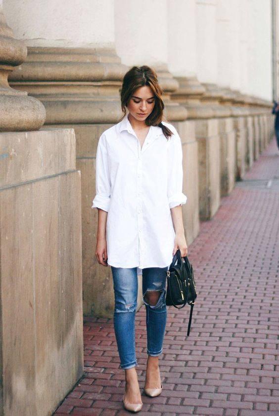 6 Ideas para usar tus camisas blancas todo el año.