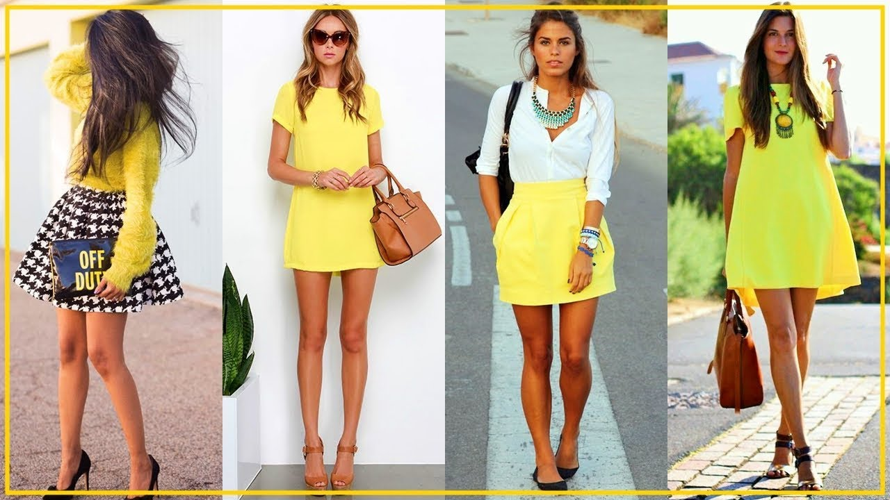 Outfits en amarillo para que recibas la primavera brillando.