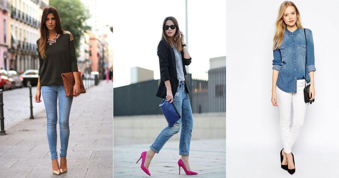 Tipos de zapatos que NO debes usar con jeans.