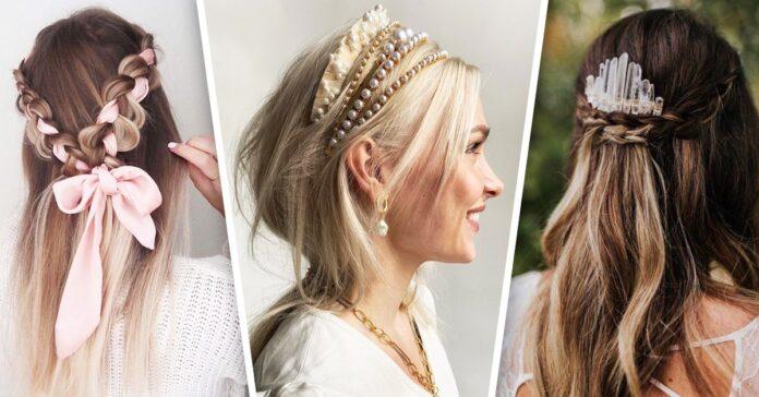 Increíbles estilos con diademas para darle más glamour a tu peinado.