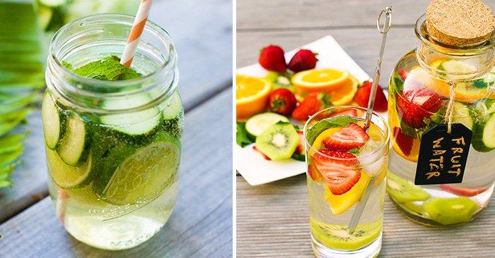 Maneras diferentes de beber agua para desintoxicar tu organismo y mantenerte saludable.
