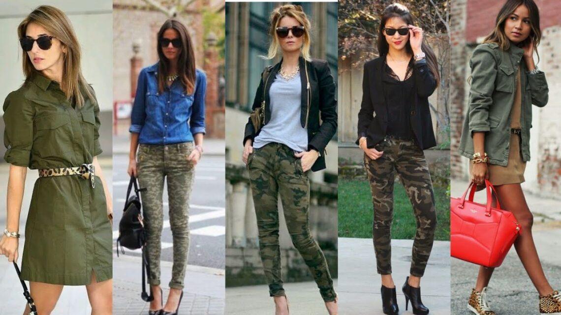 Ideas con mucho estilo para un toque verde militar en tu outfit.