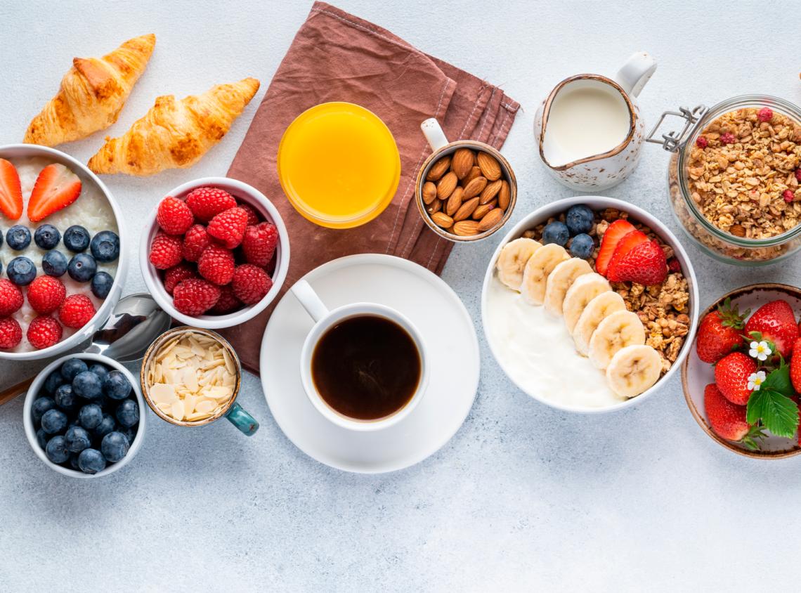 Desayunos saludables y fáciles de preparar.