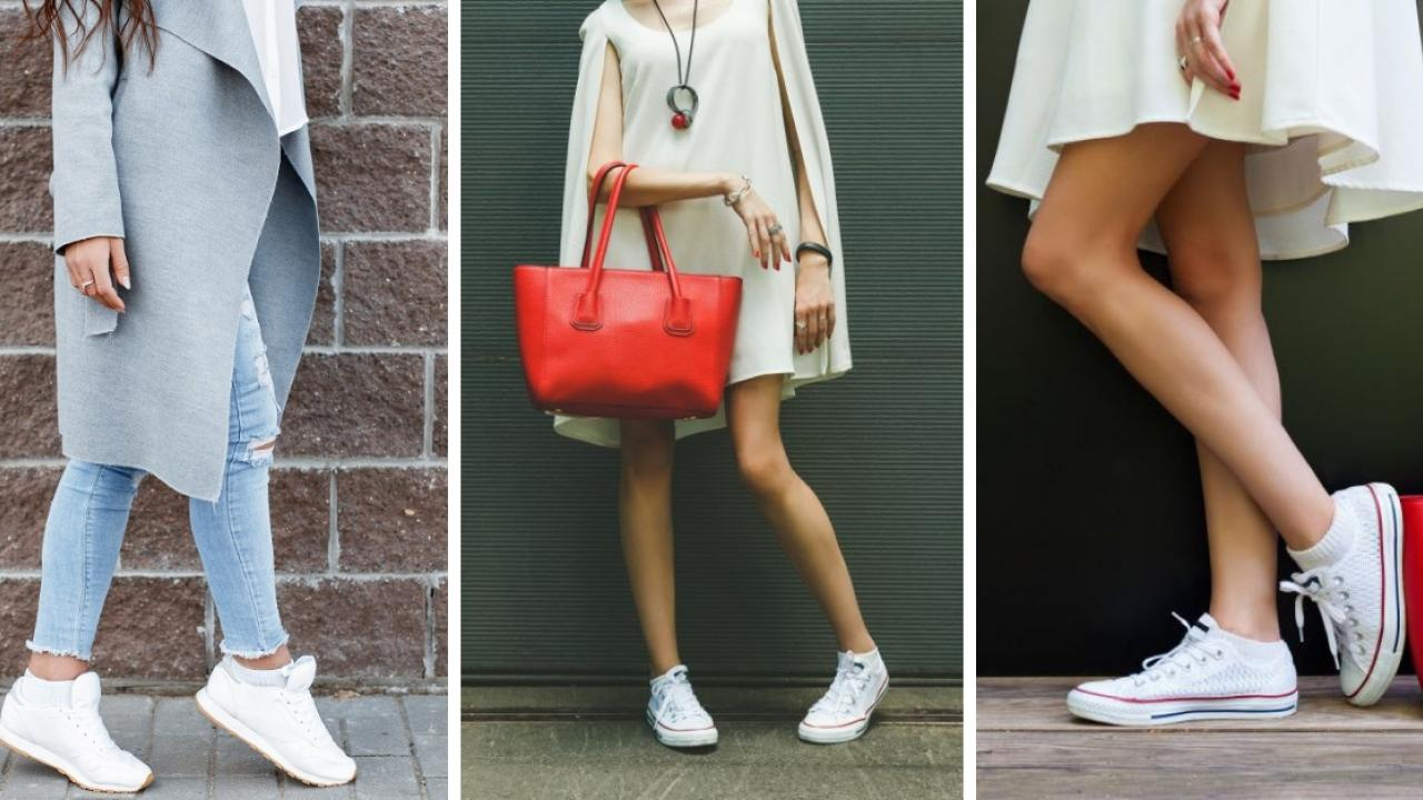 Outfits casuales para combinar con tus tenis favoritos.